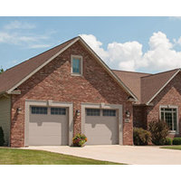 Family Safe Carriage House Steel Garage Door with Extra Large Windows  image