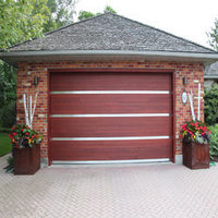 Red Cedar Insulated Steel Garage Doors image