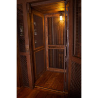 Rustic Mesh and Wood Cabs image