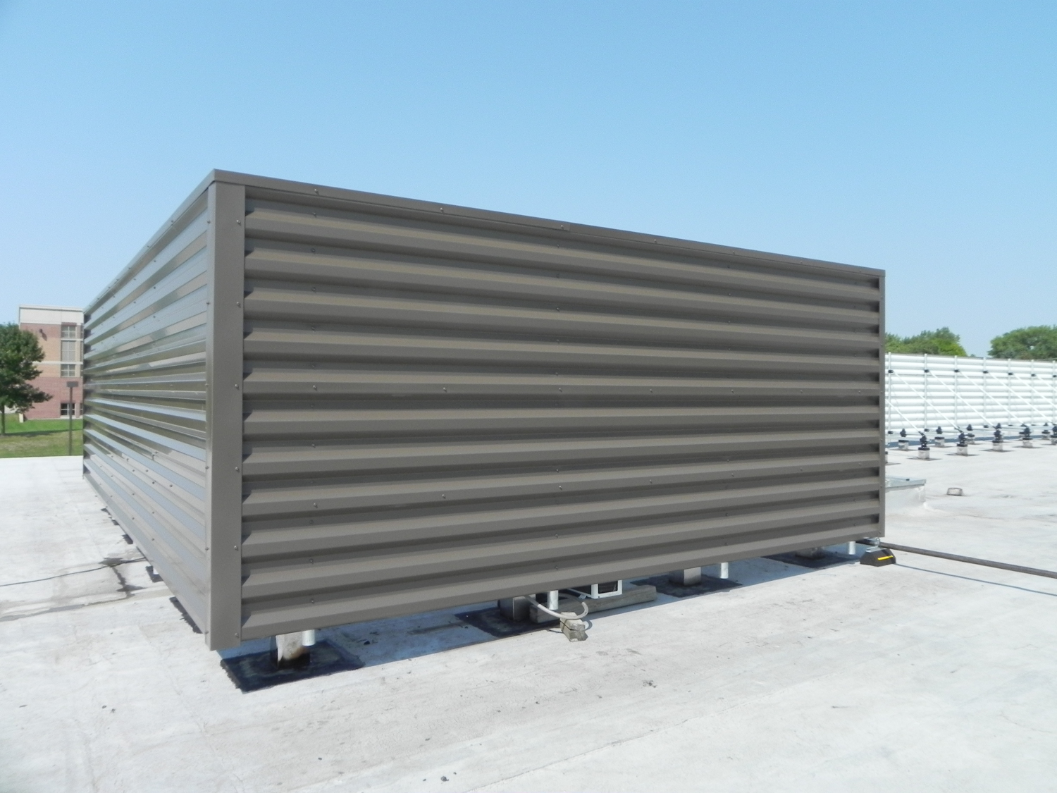 Mechanical Equipment Screens : Roofscreen mfg commercial rooftop screening