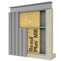 Exterior Wall, Metal Building, High Density Batt Insulation image