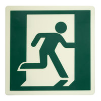Photoluminescent Running Man Right Directional Sign (DRMR) image