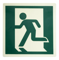 Photoluminescent Running Man Left Directional Sign (DRML) image