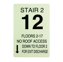 Photoluminescent Stair Identification Sign (ISID) image