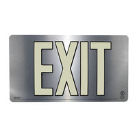Photoluminescent 50 Foot Single Sided Exit Sign (EUL50) image