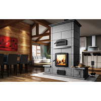 Mass Fireplace with Oven and Benches image