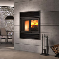 Decorative Wood Fireplace with Folding Doors image