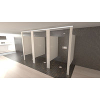 shower and dressing compartments