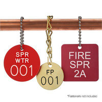 Custom Fire Sprinkler Valve ID Tags image