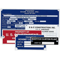 Custom Metal Equipment Nameplates image
