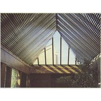 Aluminum and Wood Louver Skylight Shades image
