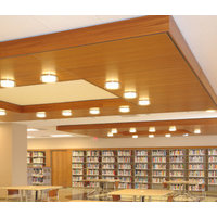 Acoustical Wood Concealed Grid Ceiling System image