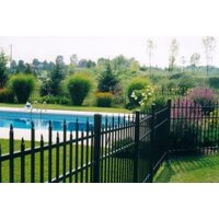 Staggered Spear Top Aluminum Fence S2 - Berkshire image