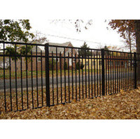 Flat Top Smooth Rail Aluminum Fence S3 - Essex image