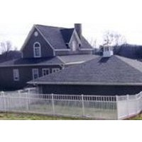 Flat Top Smooth Rail With Tight Picket Spacing Aluminum  Fence S7 - Horizon image