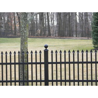 Spear Top Tight Picket Spacing Aluminum Fence S8 - Falcon image