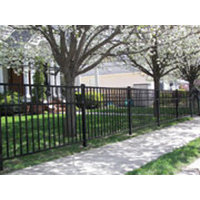 Flat top Smooth Rail Aluminum Fence S9 - Storrs image