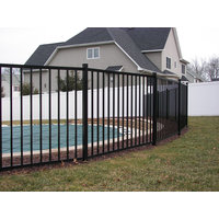 Flat Top Smooth Rail Aluminum Fence S10-Derby image