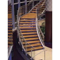 Curved Metal Stair image