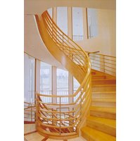 Curved Wood Stair image
