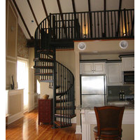 Metal and Wood Stairs image