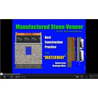 Waterway Rainscreen for Manufactured Stone / Step by Step  image