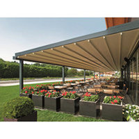 Retractable Fabric Roof Pergola Awnings - Commercial image
