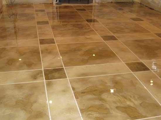 Surecrete design products concrete stampings for Concrete floor stain colors