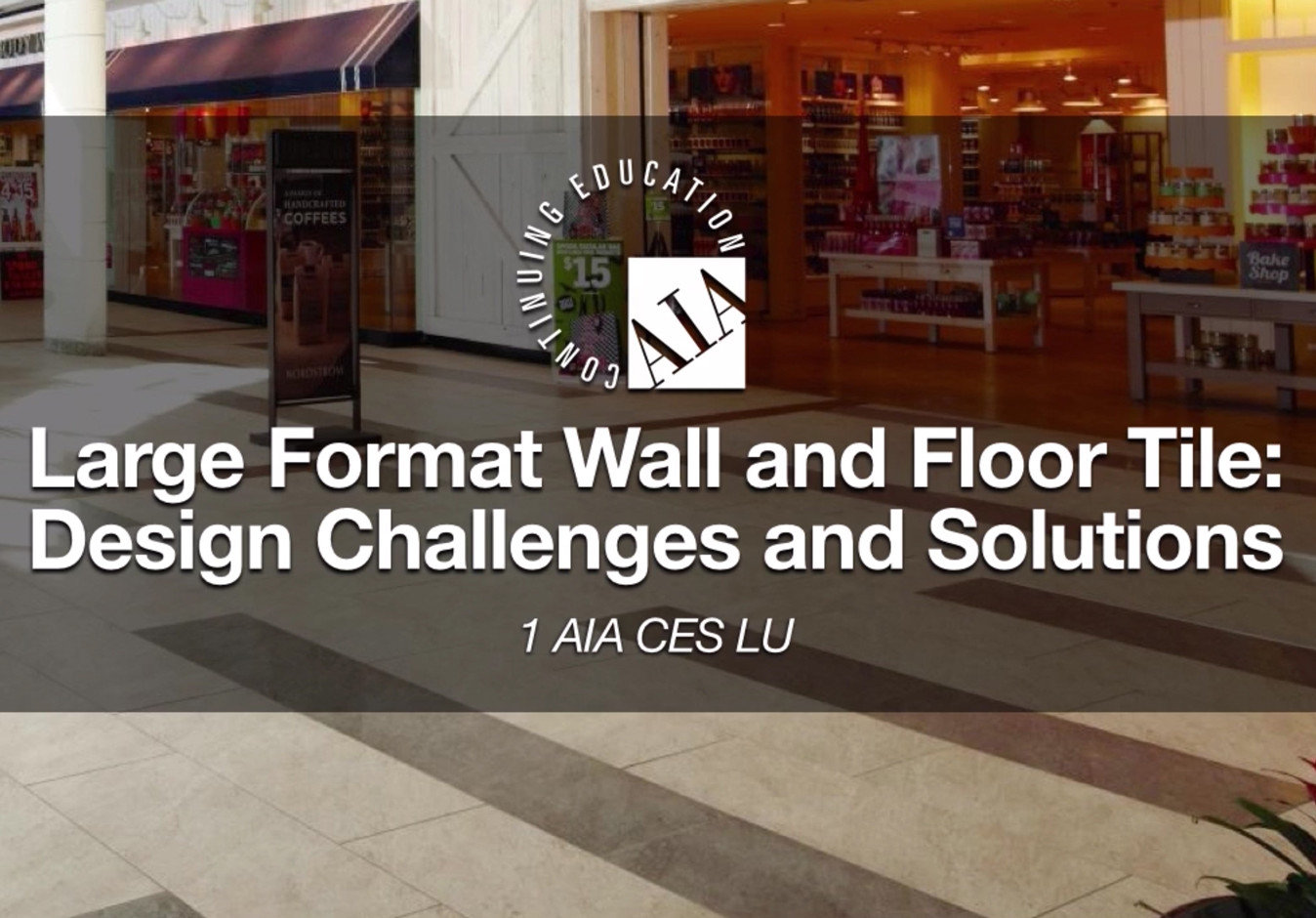 Large Format Wall and Floor Tile: Design Challenges and Solutions
