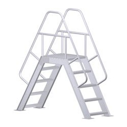 Crossover w/ Platform Ladder