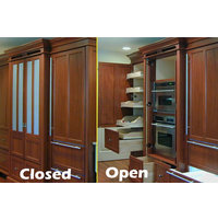 Refrigerator Armoire includes the Ovens and Pantry image